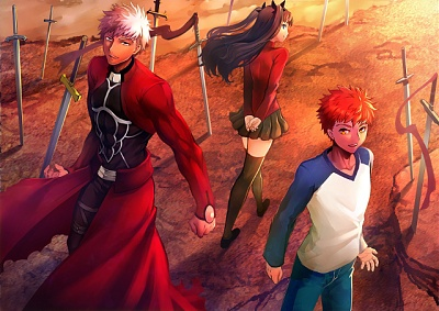Fate stay night Tohsaka Rin Emiya Shirou Archer 1714x1212